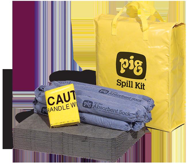 PIG® SPILL KIT IN HIGH-VISIBILITY BAG KIT220